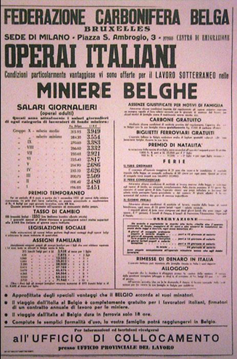 Manifesto miniere Belghe